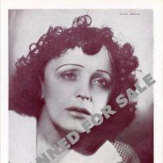 Photos de Chanteurs et Chanteuses: EDITH PIAF. FOTO ORIGINAL.. Lote 171527655