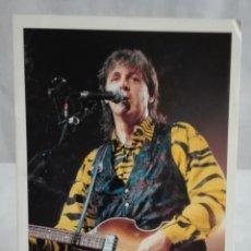 Fotos de Cantantes: POSTAL PAUL MC CARTNEY AÑOS 80 IMPRESA EN ITALIA. Lote 171630277