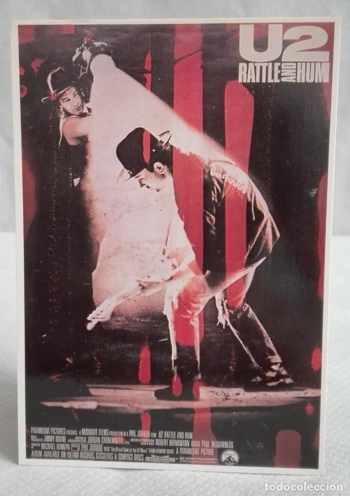 POSTAL U2 PORTADA DEL DISCO RATTLE AN HUM (Música - Fotos y Postales de Cantantes)