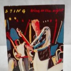 Fotos de Cantantes: POSTAL STING BRING ON THE NIGT, AÑO 1986. Lote 171631738