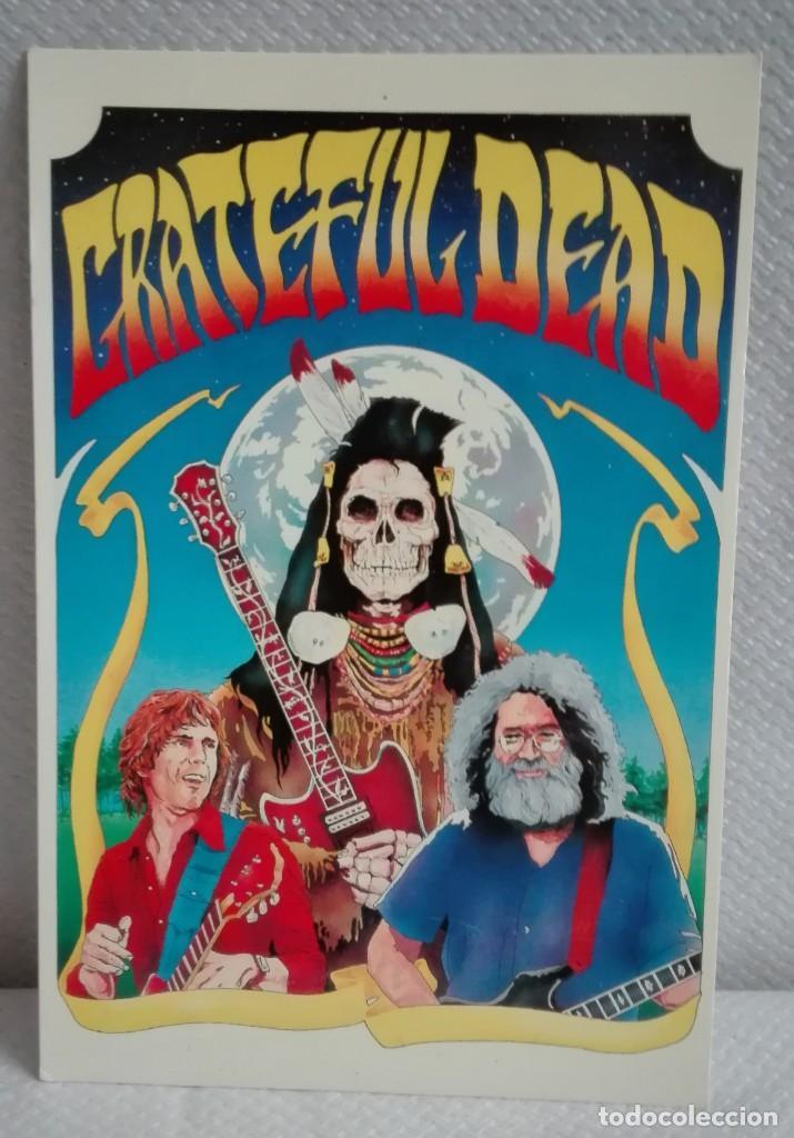 POSTAL DE GRATEFUL DEAD 1989, IMPRESA EN MANCHERTER (Música - Fotos y Postales de Cantantes)