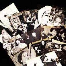 Fotos de Cantantes: MARIA CALLAS LOTE 13 FOTO POSTALES DESCONOZCO AÑO ANTIGUA VINTAGE BUEN ESTADO. Lote 172257832