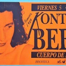 Fotos de Cantantes: FOLLETO DE CONCIERTO DE KONTXITA BEBIA. AÑO 1989. Lote 172878437