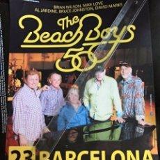 Fotos de Cantantes: BEACH BOYS CARTEL ANUNCIO CONCIERTO PARA TIENDAS ORIGINAL BARCELONA RARO CONJUNTOS SURF. Lote 173194397