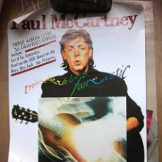 Fotos de Cantantes: BEATLES PAUL MCCARTNEY POSTER ORIGINAL PROMOCION DISCO TIENDAS EMI ODEON ESPAÑA . Lote 173632162