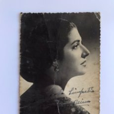 Fotos de Cantantes: JUANITA REINA. POSTAL DEDICADA, FIRMADA POR LA ARTISTA (H.1950?). Lote 173813972