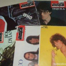 Fotos de Cantantes: CINCO POSTERS EL GRAN MUSICAL DE ROCK. Lote 173934120