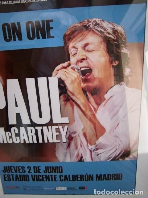 Fotos de Cantantes: BEATLES PAUL McCARTNEY POSTER PROMOCIONAL CONCIERTO MADRID ESTA NUEVO 30 X 40 CM - Foto 2 - 219150203