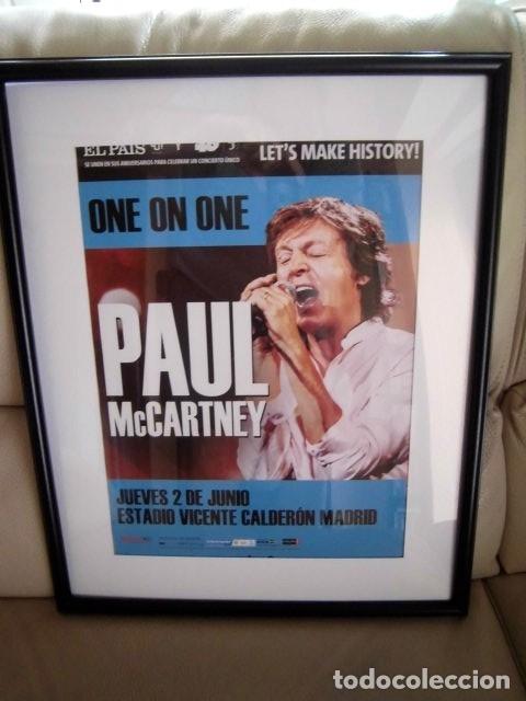 BEATLES PAUL MCCARTNEY POSTER PROMOCIONAL CONCIERTO MADRID ESTA NUEVO 30 X 40 CM (Música - Fotos y Postales de Cantantes)