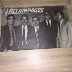Fotos de Cantantes: CARTEL ORIGINAL DE EPOCA LOS RELAMPAGOS. Lote 174405647