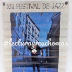 Fotos de Cantantes: XIII FESTIVAL DE JAZZ DE VITORIA - GASTEIZ 1989 CARTEL ORIGINAL 69,5X46,5 CMS.. Lote 103689591