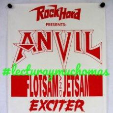 Fotos de Cantantes: ANVIL + FLOTSAM AND JETSAM + EXCITER. POSTER ORIGINAL. 52X72 CMS.. Lote 121629275