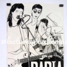 Fotos de Cantantes: RABIA. HISTÓRICO CARTEL DEL LA BANDA BILBAÍNA. MEDIADOS 80S.30X42 CMS.. Lote 132584498