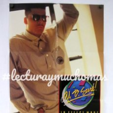Fotos de Cantantes: AL B. SURE. IN EFFECT MODE. CARTEL ORIGINAL DEL CONCIERTO 58X89CMS.. Lote 132648046