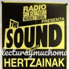 Fotos de Cantantes: THE SOUND + HERTZAINAK. HISTÓRICO CARTEL ORIGINAL CONCIERTO 1986 EN DONOSTIA - SAN SEBASTIAN. Lote 155379850