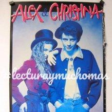 """Fotos de Cantantes: ALEX Y CHRISTINA """"ALEX Y CHRISTINA"""" (1987). CARTEL CARTEL ORIGINAL PROMOCIONAL DEL ÁLBUM. Lote 96065734"""