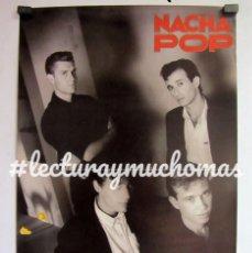 Fotos de Cantantes: NACHA POP. CARTEL ORIGINAL 31X47 CMS. DIBUJOS ANIMADOS. 1985. Lote 96774099