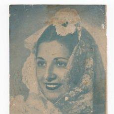 Fotos de Cantantes: FOTOGRAFIA IMPRESA CON DEDICATORIA DE JUANITA REINA. CÁDIZ 1943.. Lote 176014903