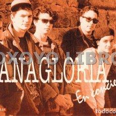 Fotos de Cantantes: TARJETA PUBLICITARIA GRUPO MUSICAL EMERITENSE VANAGLORIA, CON BEBE. Lote 176614260