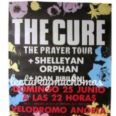 Fotos de Cantores: THE CURE. THE PRAYER TOUR '89. CARTEL ORIGINAL CONCIERTO EN SAN SEBASTIÁN, 25/6/1989.. Lote 177249140