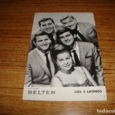 Fotos de Cantantes: (ALB-TC-200) ARTISTAS BELTER LOS 5 LATINOS. Lote 177759547