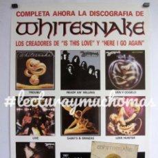 Fotos de Cantantes: WHITESNAKE. CARTEL ORIGINAL PROMOCIONAL DISCOGRÁFICA EMI DE 1987. CON TODOS SUS L.P.S.. Lote 178676140