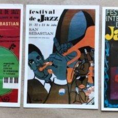 Fotos de Cantantes: LOTE 20 CARTELES DEL FESTIVAL DE JAZZ DE SAN SEBASTIAN, JAZZALDIA, 1966-1985, XX ANIVERSARIO. TODOS. Lote 178680471