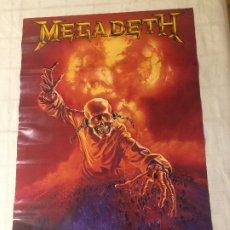 Fotos de Cantantes: MEGADETH - POSTER ORIGINAL AÑO 1987 - SCANDECOR - MEDIDAS; 84 X 59 CMS.. Lote 178772015