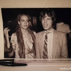 Fotos de Cantantes: FICHA COLECCIONABLE -10*15- JERRY HALL -MIKE JAGGER - THE ROLLING STONES -MICHAEL JACKSON -AEROSMITH. Lote 179210317