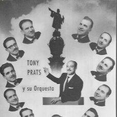 Fotos de Cantantes: POSTAL * TONY PRATS Y SU ORQUESTA *. Lote 179242247