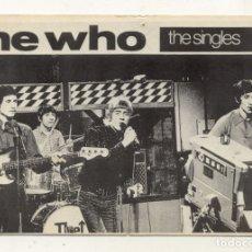 Fotos de Cantantes: POSTAL THE WHO / THE SINGLES LP / POR EL COLOR DE PAPEL PARECE ANTIGUO. Lote 180203956