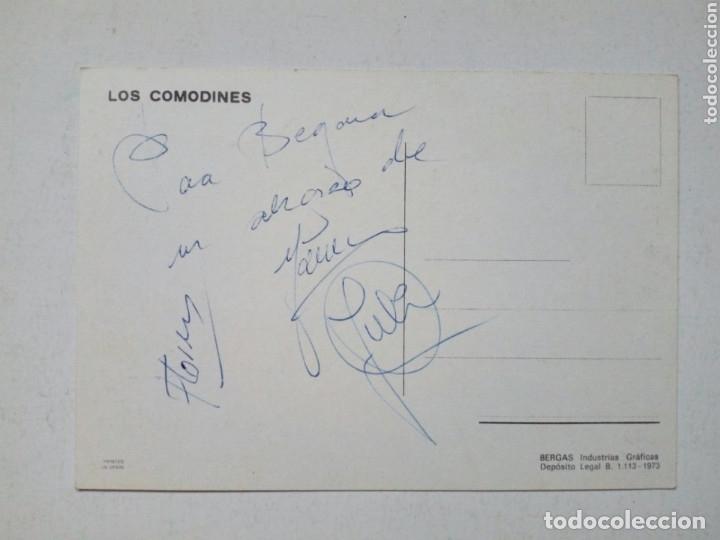 Fotos de Cantantes: LOS COMODINES - Tarjeta postal con firmas del grupo - firmada a mano con dedicatoria, no impresión - Foto 2 - 180414765