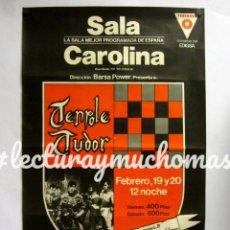 Fotos de Cantantes: TENPOLE TUDOR. HISTÓRICO CARTEL ORIGINAL CONCIERTO MÍTICA SALA CAROLINA (MADRID) EN 1982.. Lote 182403880