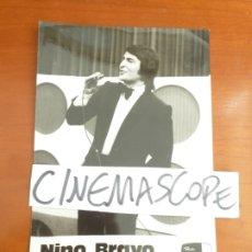 Fotos de Cantantes: NINO BRAVO FOTO ORIGINAL ANTIGUA . Lote 182846911