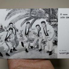 Fotos de Cantantes: EL NUEVO LATIN COMBO - TARJETA PROMOCIONAL DISCOGRÁFICA DISCOS VERGARA. 10 X 16 CM.- REF-ZZ. Lote 183074557