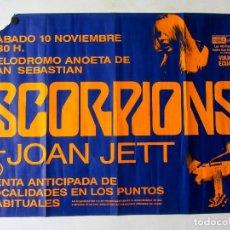 Fotos de Cantantes: SCORPIONS + JOAN JETT. CARTEL ORIGINAL CONCIERTO EN SAN SEBATIÁN EL 10/11/1985. 63 X 87 CMS.. Lote 183412960