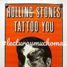 Fotos de Cantantes: ROLLING STONES. TATTOO YOU (1981). HISTÓRICO CARTEL PROMOCIONAL DEL ÁLBUM. MICK JAGGER. Lote 183423308