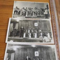 Fotos de Cantantes: TRES FOTOGRAFÍAS DE LA ORQUESTRA TRIUNFAL TOCANDO EN SANTPEDOR, BAGES DEL AÑO 1969. Lote 184498383