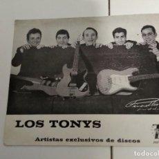 Fotos de Cantantes: LOS TONYS POSTAL PROMOCIONAL ZAFIRO DISCOGRAFIA DETRAS . Lote 185931420