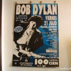 Fotos de Cantantes: CARTEL ORIGINAL GIRA TOUR BOB DYLAN VALENCIA 1995 130X88. Lote 186069882