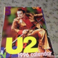 Fotos de Cantantes: U2 - CALENDARIO VINTAGE AÑO 1996 A TODO COLOR. TAMAÑO 43X30 Y 14 HOJAS. EXCELENTE. Lote 187206718