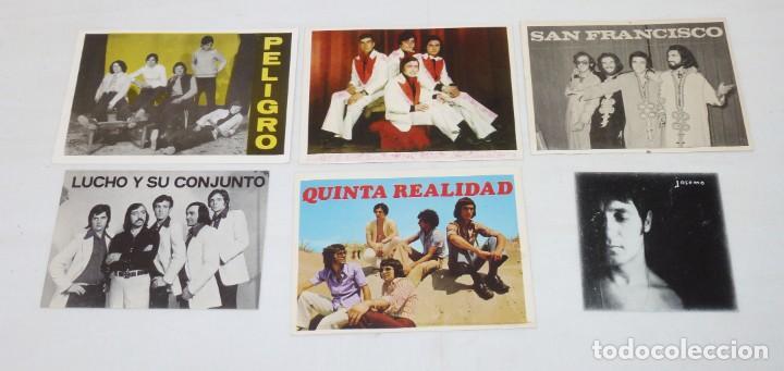 LOTE DE 6 TARJETAS PROMOCIONALES DE GRUPOS. (Música - Fotos y Postales de Cantantes)