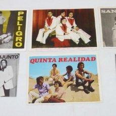 Fotos de Cantantes: LOTE DE 6 TARJETAS PROMOCIONALES DE GRUPOS.. Lote 187442600