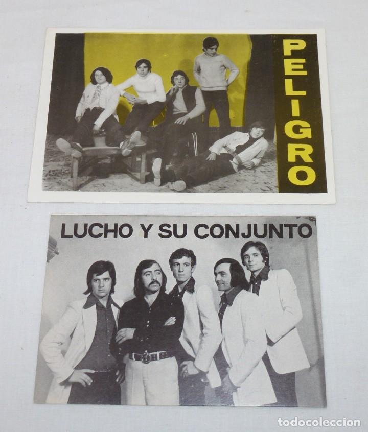 Fotos de Cantantes: Lote de 6 tarjetas promocionales de grupos. - Foto 2 - 187442600