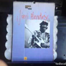 Fotos de Cantantes: JIMI HENDRIX - CALENDARIO VINTAGE AÑO 1995 A TODO COLOR. TAMAÑO 43X30 Y 14 HOJAS. EXCELENTE. Lote 188473598