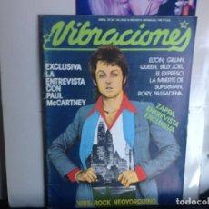 Fotos de Cantantes: PAUL MACCARTNEY QUEEN ELTON JOHN FRANK ZAPPA ETC...VIBRACIONES Nº55 DE 1979 EXCELENTE. Lote 188490578