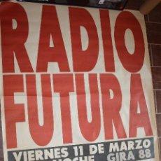 Fotos de Cantantes: CARTEL POSTER CONCIERTO RADIO FUTURA. GIRA 88 .GRAN TAMAÑO. ORIGINAL. PACHA VALENCIA. Lote 191611191