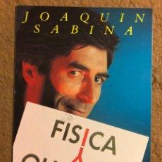 """Fotos de Cantantes: JOAQUÍN SABINA """"FÍSICA Y QUÍMICA"""" (1992). POSTAL PROMOCIONAL ARIOLA BMG, CON DISCOGRAFÍA AL DORSO. Lote 191849690"""