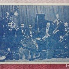 Fotos de Cantantes: ANTIGUA TARJETA PUBLICITARIA.ORCHESTRA VENECIANS.F.LLIVERIA.J.FARRES.J.CHORNET.BARCELONA.JAZZ. Lote 192111247