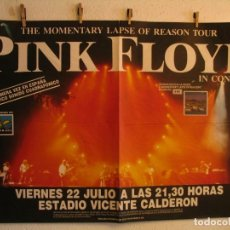 Fotos de Cantantes: PINK FLOYD MOMENTARY LAPSE OF REASON CARTEL ORIGINAL GIRA TOUR 1988 MADRID 88X127. Lote 194202797